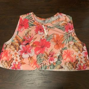 Tropical crop top from Asos Curve!